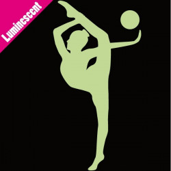 Sticker Luminescent Gymnastique Rythmique Ballon
