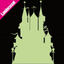Sticker Luminescent Silhouette Château de Princesse