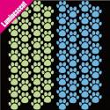 Sticker Luminescent 68 pas d'ourson 2 couleurs 6,5x6cm