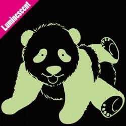 Sticker Luminescent Panda Allongé