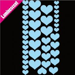 Sticker Luminescent Lot 37 Coeurs