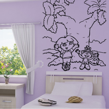 Dora & Babouche heureux