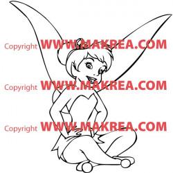 Sticker Peter Pan - Fée Clochette 2