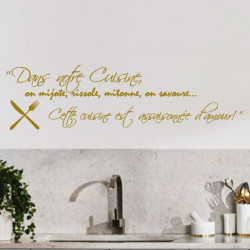 Sticker Cuisine - Dans cette cuisine on mijote, rissole, mitonne, on savoure...