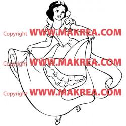 Sticker Blanche Neige