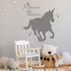 Sticker Licorne au galop - Princesse Unicorn
