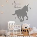 Sticker Licorne au galop - Princesse Unicorn