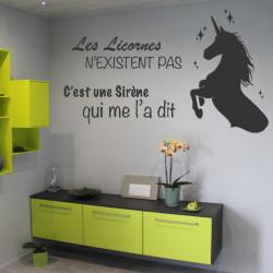 Sticker citation Les Licornes n'existent pas