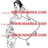 Sticker Blanche Neige et le Nain Timide