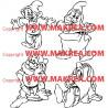 Sticker Blanche Neige - nains