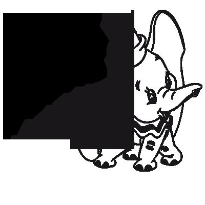 Sticker Bébé à Bord - Dumbo
