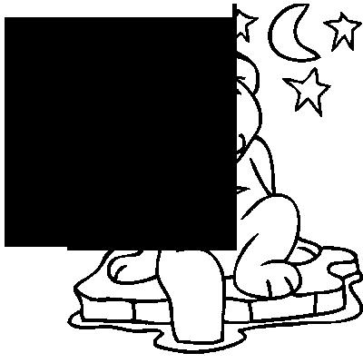 Sticker Ourson banquise et étoiles