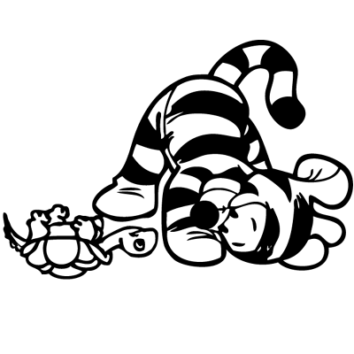 Sticker Tigrou et la Tortue