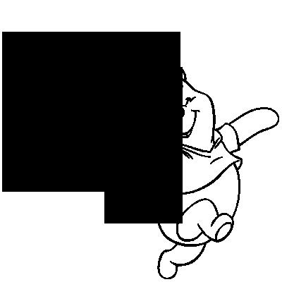 Sticker Winnie Heureux - Ballon Coeur + prénom personnalisable