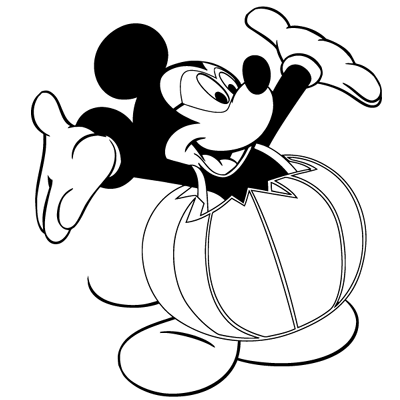 Sticker Mickey Habille de Citrouille Halloween