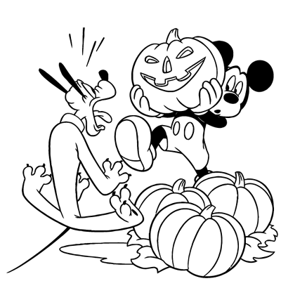 Sticker Mickey - Pluto Halloween