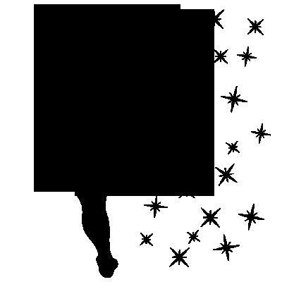 Sticker PACK Silhouette Fée Clochette + Fée interrupteur + Etoiles