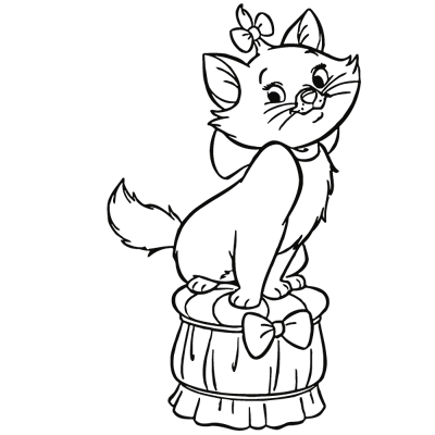 Sticker Marie Assise - Les Aristochats