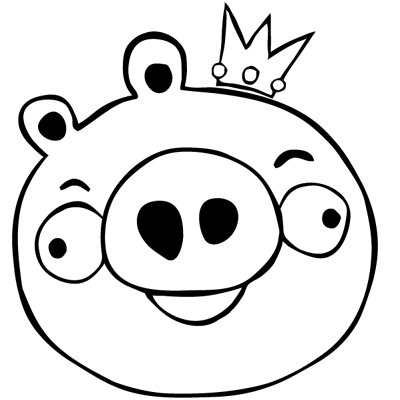 Sticker Angry Birds - Cochon