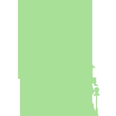 Sticker Luminescent Silhouette Château de Princesse