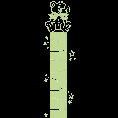 Sticker Luminescent Règle de croissance Toise - Ourson