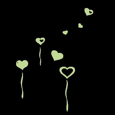 Sticker Luminescent Ballons Coeurs