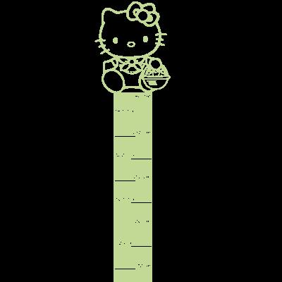 Sticker Luminescent Règle de croissance Toise - Hello Kitty