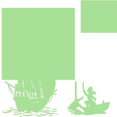 Sticker Luminescent PACK Silhouette Peter Pan s'envole, bateau pirate, Capitaine Crochet