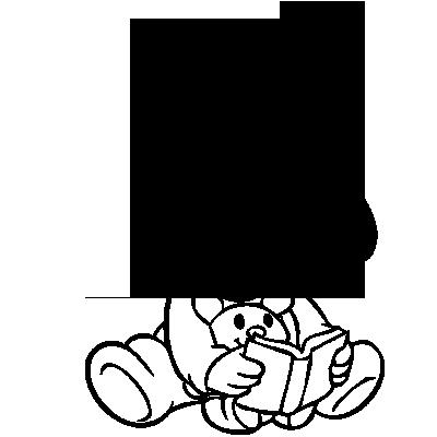 Sticker Pluto Bébé Lecture
