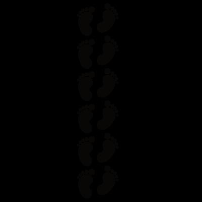 Sticker Lot 6 Empreintes Pieds de Bébé