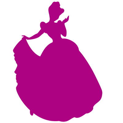 Sticker Princesse Disney - Silhouette Cendrillon