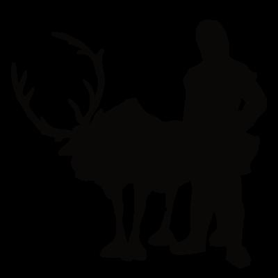 Sticker La Reine des Neiges - Silhouette Renne Sven & Kristoff