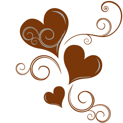 Sticker 3 Coeurs Ornements