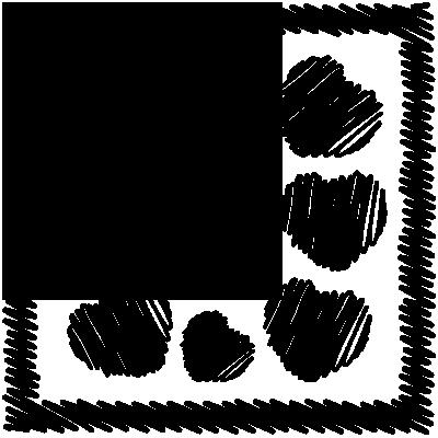 Sticker Tableau de coeurs esquisse