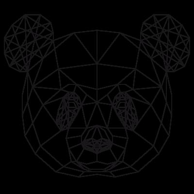 Sticker Géométrique Tête De Panda