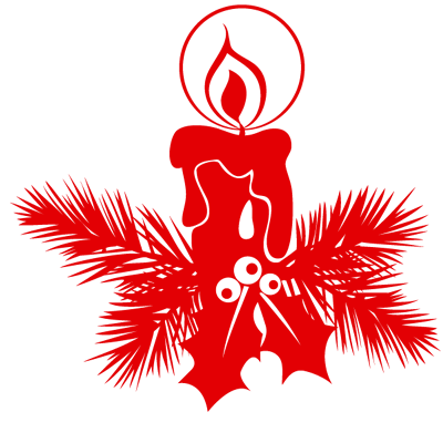 Sticker Noël Bougie 2