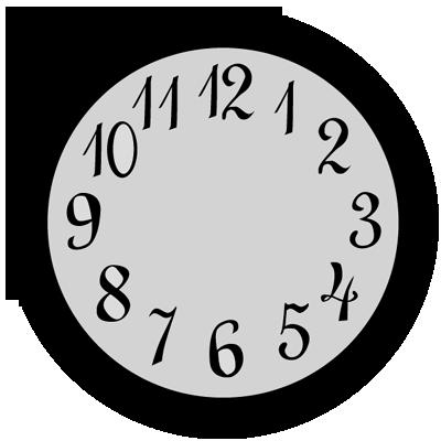 Sticker Horloge Ronde