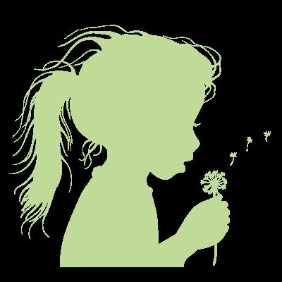 Sticker Luminescent  Fillette qui souffle Fleur Pissenlit