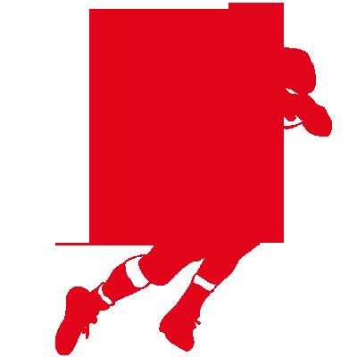 Sticker Football américain court avec le ballon