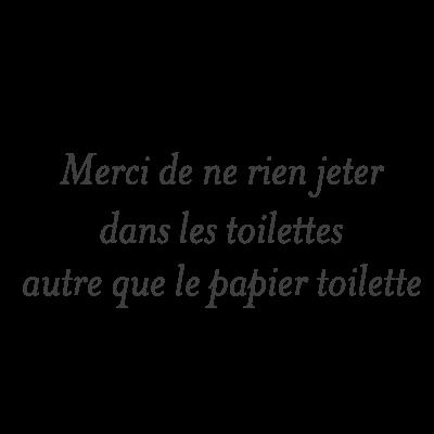 Sticker Texte Merci De Ne Pas Jeter Dans Les Toilettes