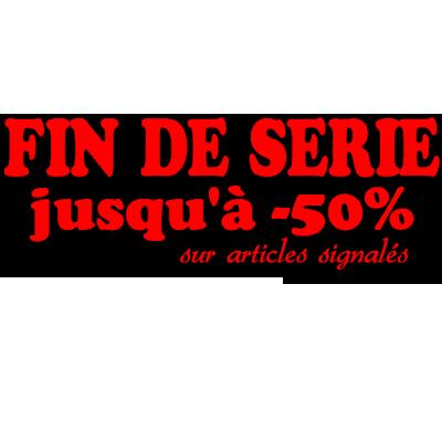 Sticker vitrine Fin de Série jusqu'à -50%