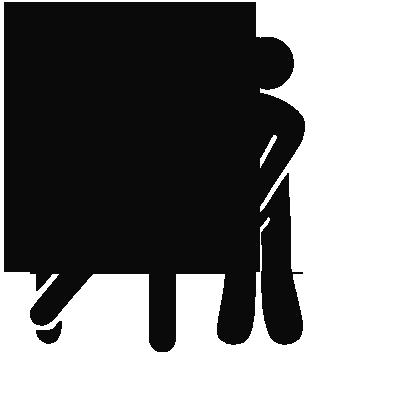 Sticker WC - Personnages H & F Humoristique